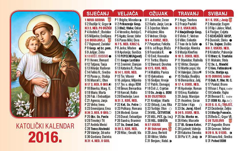 ... 2015 13 lisni kalendar 2016 2 13 svibnja 2015 9 džepni kalendari 2016