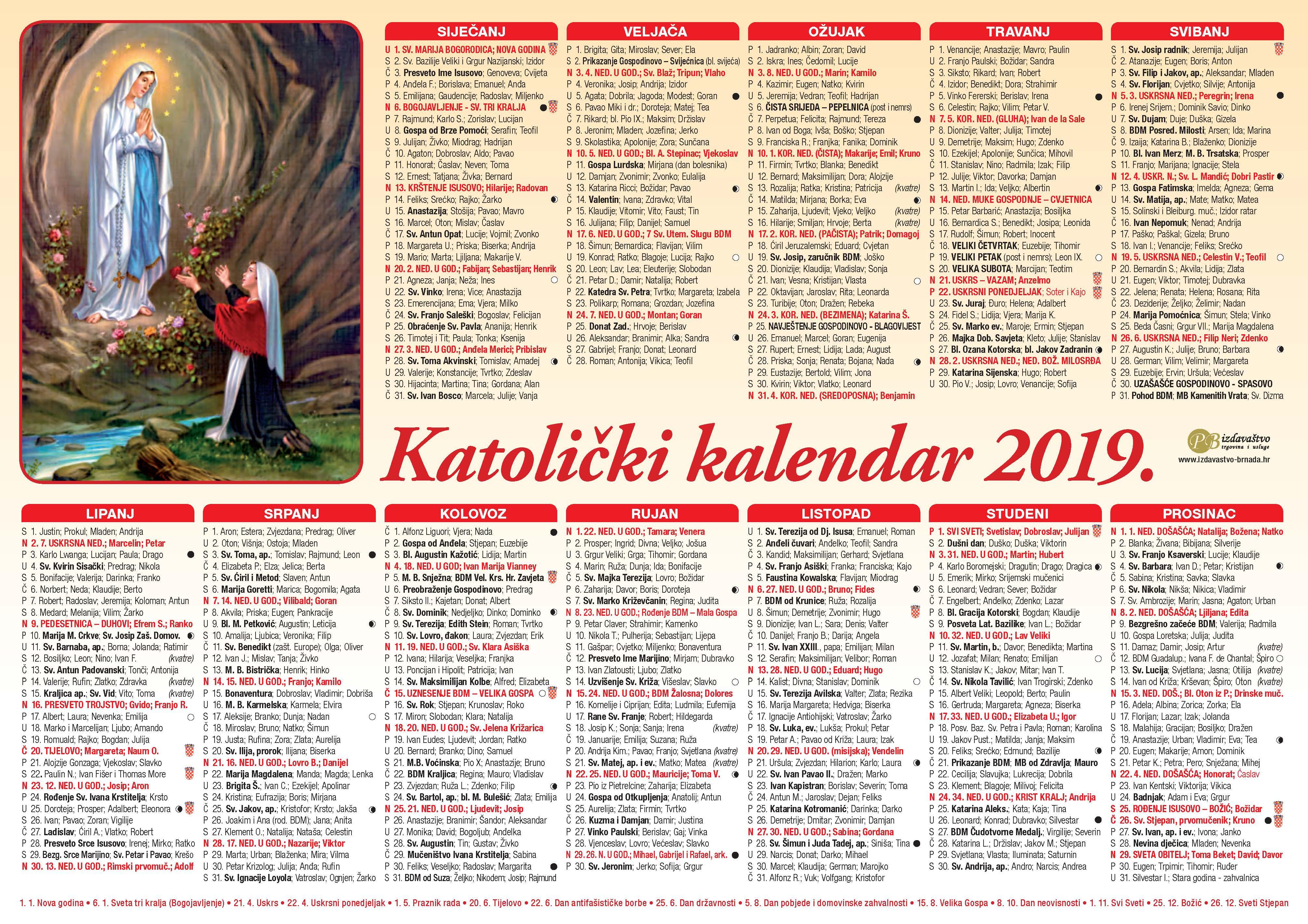 Pravoslavni Kalendar 2019 Uskrs